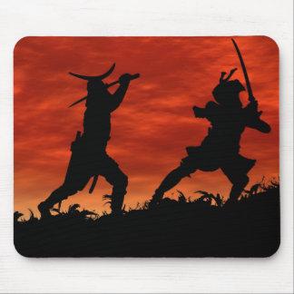 Duelo del samurai tapete de ratón