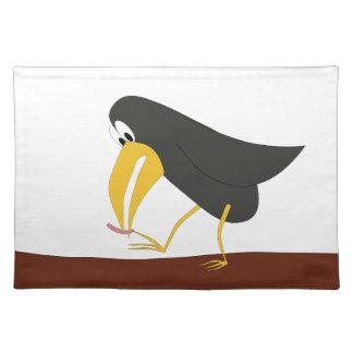 Duelo - pájaro y gusano mantel