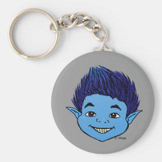 Duende Azul Basic Round Button Keychain