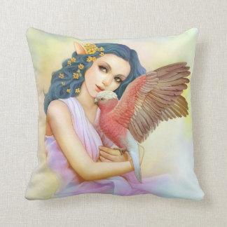 Duende cabelludo azul y su galah almohada