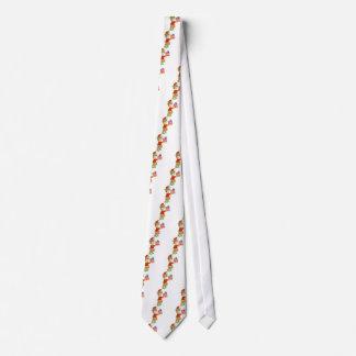 Duende con el presente corbata