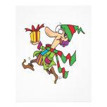 duende corriente divertido del navidad con el actu tarjetas publicitarias