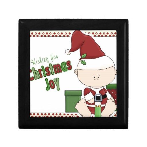 Duende de la alegría del navidad cajas de recuerdo