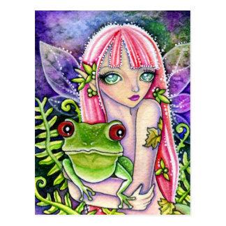 Duende de la rana verde - postal