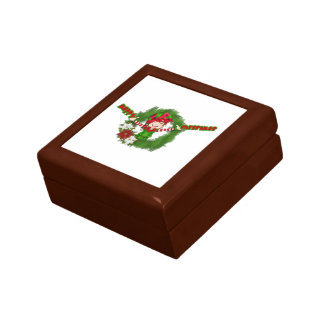 Duende de las felices Navidad Caja De Recuerdo