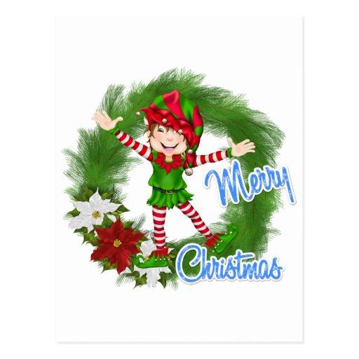 Duende de las Felices Navidad Postal