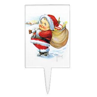 Duende de Santas con los juguetes Palillos De Tarta
