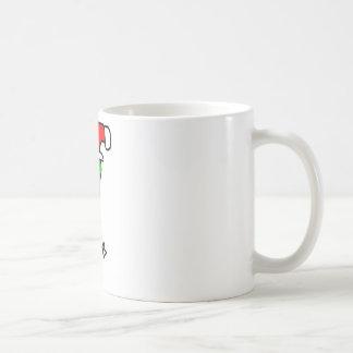 duende de santas taza básica blanca