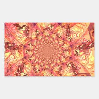 Duende de Sun del caleidoscopio Pegatina Rectangular