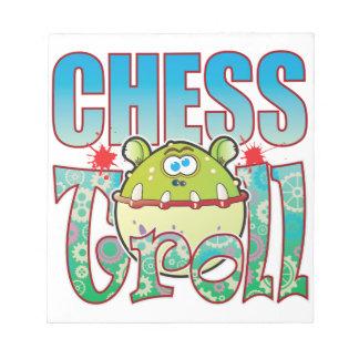 Duende del ajedrez bloc de notas