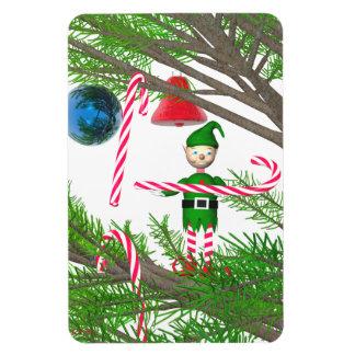 Duende del bastón de caramelo del navidad imanes de vinilo