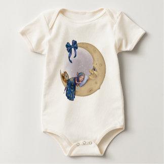 Duende del bebé de la luna mameluco