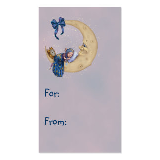 Duende del bebé de la luna plantilla de tarjeta de visita