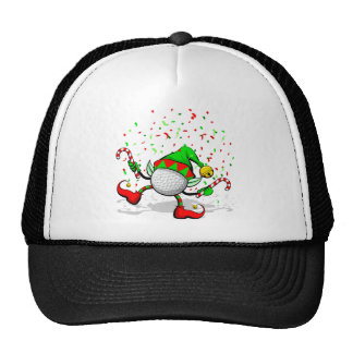 Duende del navidad del golf del baile gorra