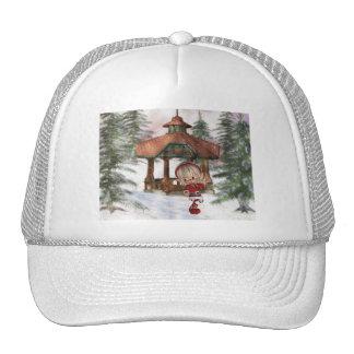 Duende del navidad en el gorra de béisbol de Polo