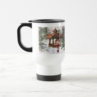 Duende del navidad en la taza del viaje de Polo No
