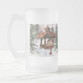 Duende del navidad en la taza helada Norte de Polo