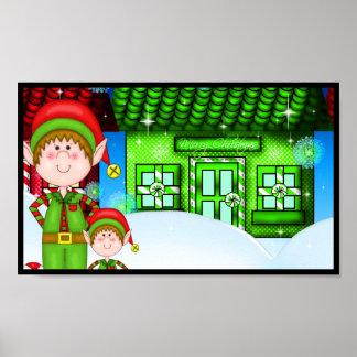 Duende del navidad impresiones