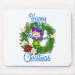Duende del navidad tapete de raton