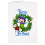 Duende del navidad tarjeta de felicitación