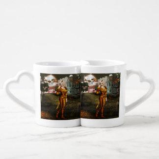 Duende del otoño tazas para parejas
