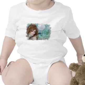 Duende del Redhead y diseños de cristal azules de Trajes De Bebé