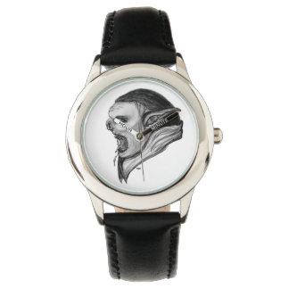 Duende - diseño blanco y negro reloj de mano