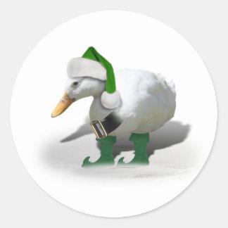 Duende Ducky Pegatinas Redondas