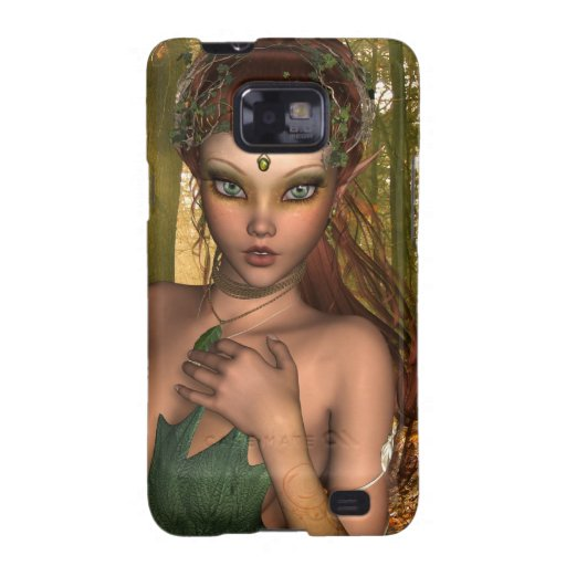 Duende en caso de la galaxia de Samsung de maderas Carcasa Para Samsung Galaxy S2