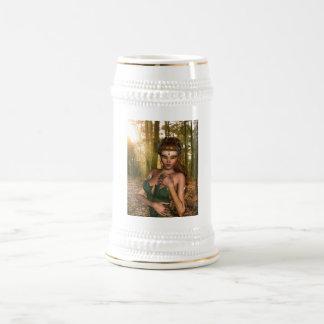 Duende en la cerveza Stein de maderas Jarra De Cerveza