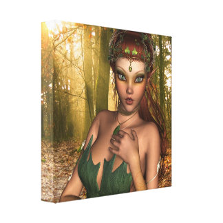 Duende en la impresión de la lona de maderas lienzo envuelto para galerias