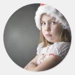 duende gruñón del navidad pegatina redonda