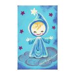 Duende Kiddo en una nube con las estrellas Impresiones En Lona