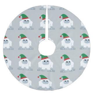Duende lindo Yeti del navidad Falda Para Arbol De Navidad De Poliéster