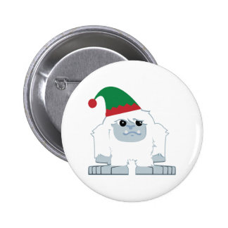 Duende lindo Yeti del navidad Pin Redondo De 2 Pulgadas