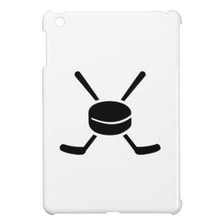 Duende malicioso cruzado de los palillos de hockey