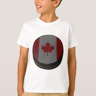 Duende malicioso de hockey canadiense camisas