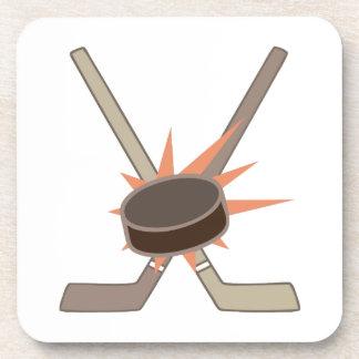Duende malicioso de hockey posavaso
