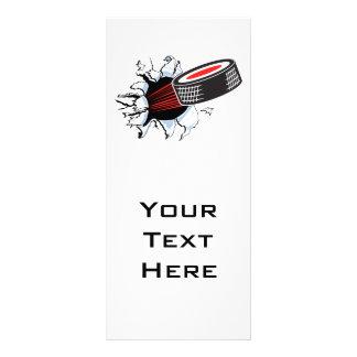 duende malicioso de hockey que rasga a través tarjeta publicitaria personalizada