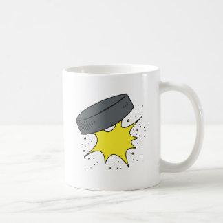 Duende malicioso de hockey taza de café
