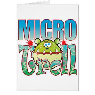 Duende micro tarjeta de felicitación