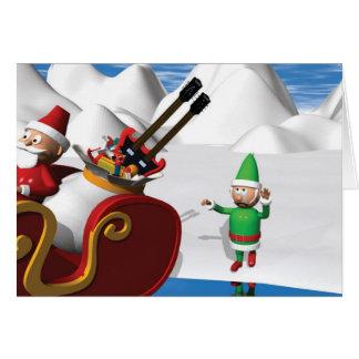Duende triste del navidad tarjeta de felicitación