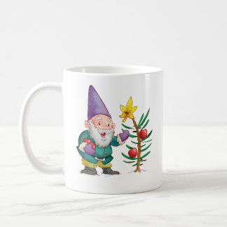 Duende y árbol del navidad taza de café