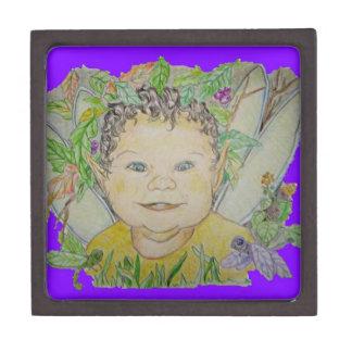 Duende y Dragonflys del bebé Caja De Recuerdo De Calidad