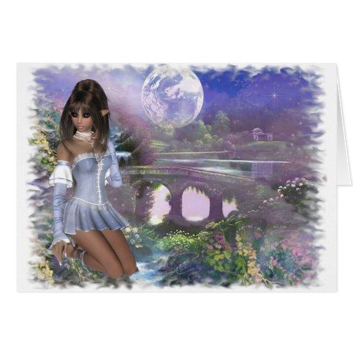 Duende y escena soñadora - línea de productos de tarjeta de felicitación
