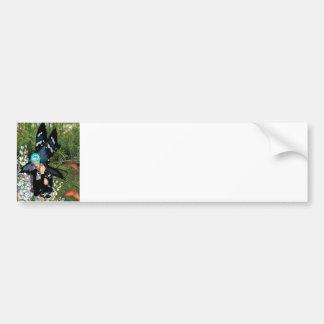 Duendecillo 18x15 de la flor del Bluebell Pegatina Para Auto