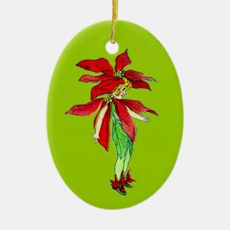 Duendecillo adaptable del navidad del vintage adorno navideño ovalado de cerámica
