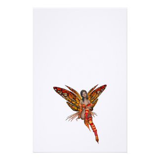 Duendecillo anaranjado de la mariposa de monarca 3 papelería personalizada