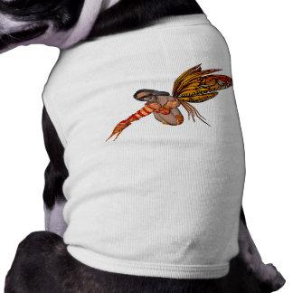 Duendecillo anaranjado de la mariposa de monarca 3 camisa de mascota