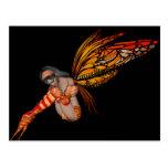 Duendecillo anaranjado de la mariposa de monarca 3 tarjetas postales